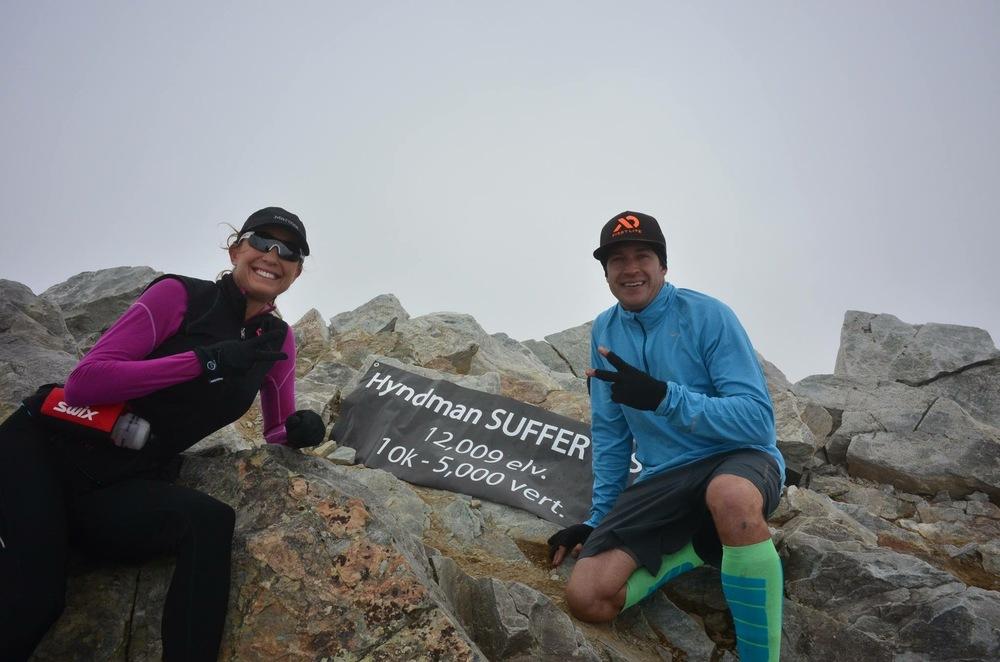Jennifer Ludington and Will Meyers at the summit of Hyndman!