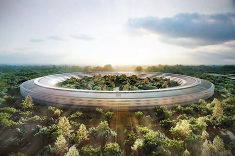 Rendition of Apple's future headquarters.