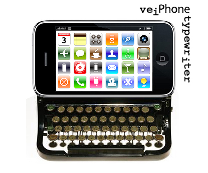 iPhone typewriter: CC image courtesy of glidas_f on Flickr.