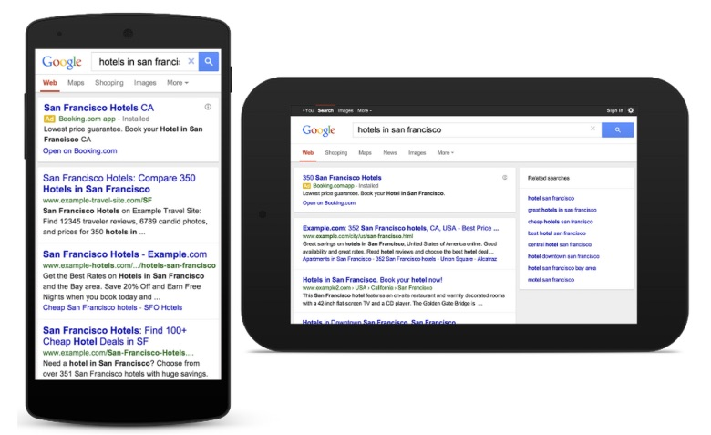 Google will now indicate mobile friendly sites when using a mobile device