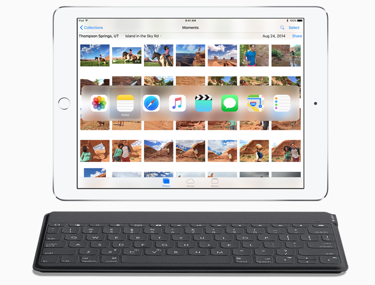 iOS 9 physical keyboard shortcuts