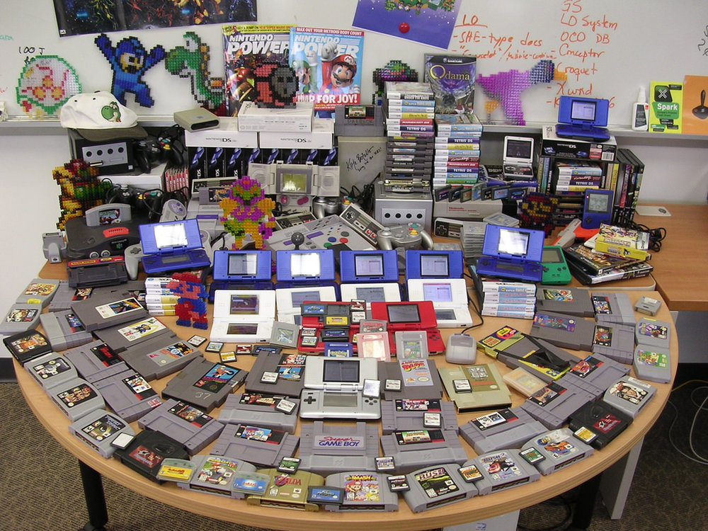 Nintendo cartridge-based games over the years. CC image courtesy of wisekris on  Flickr