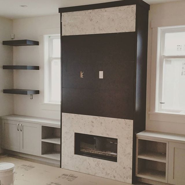 A tiny media center for a tiny space, the possibilities are endless and only limited to your imagination. Www.studio1kitchens.com  #studio1kitchens #cabinets #cabinetry #millwork #custom #home #builder #vancouverhomes #vancity #cabinetry #cabinetmaker #kitchen #blum #vancouver #homes #grey #eastvancouver #eastvan #designer #crown