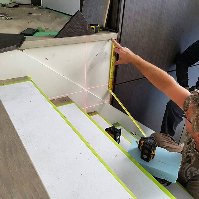 We do more then just cabinets, wall panels are a hot new trend that requires us to be far more technical. We user laser measurement devices to make sure everything is level, square and plumb. Check us out at www.studio1kitchens.com #cabinetmaker #wallpanels #laserlevel #wood #veneers #installation #custom #home #vancouver #vancity #luxury #life #style