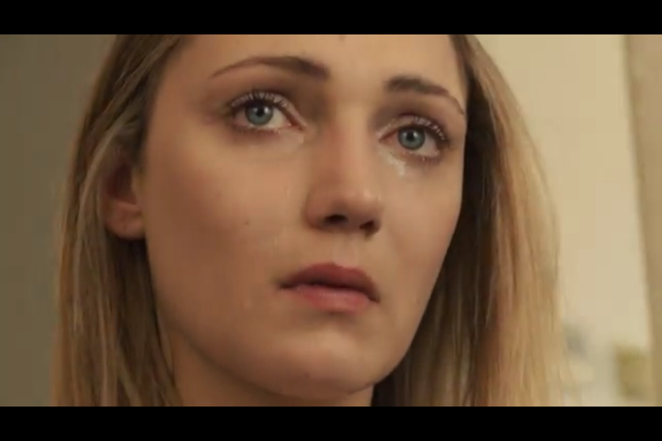 Hannah Levien as Ellen in Children of Sorrow.