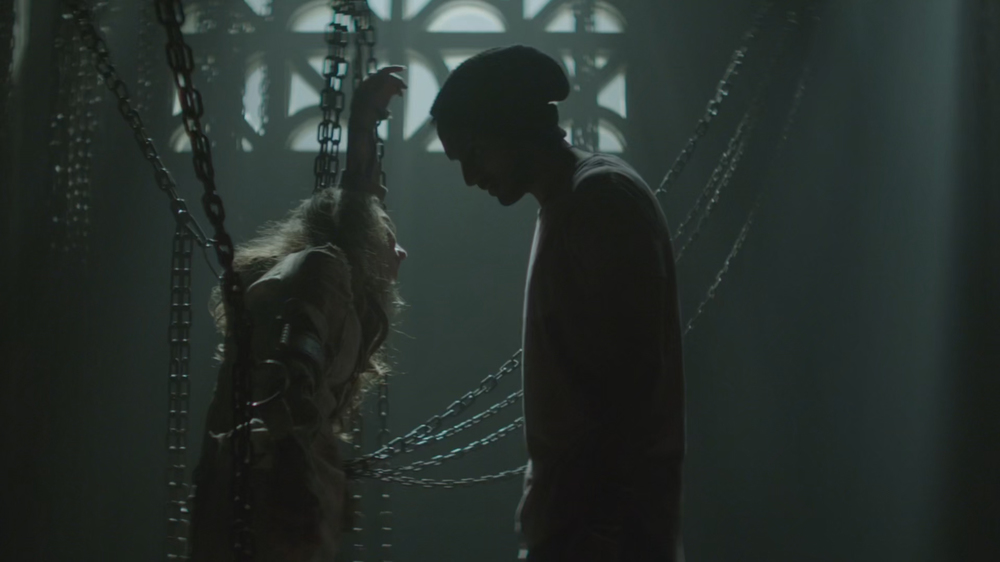 Arjun Gupta (Penny) and Hannah Levien (Victoria) in The Magicians.