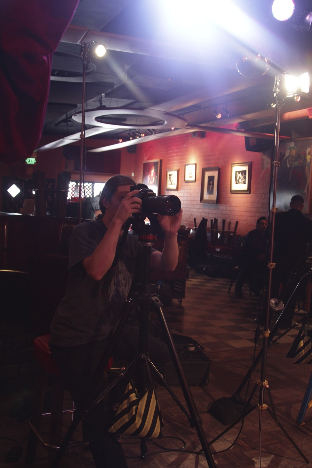 Patrick Brede at the Angela Brito video shoot