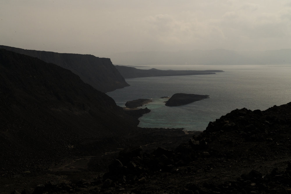 he rugged coastline where migrants flow out east Africa as Yemenis refugees land in Djibouti, January 14, 2016.