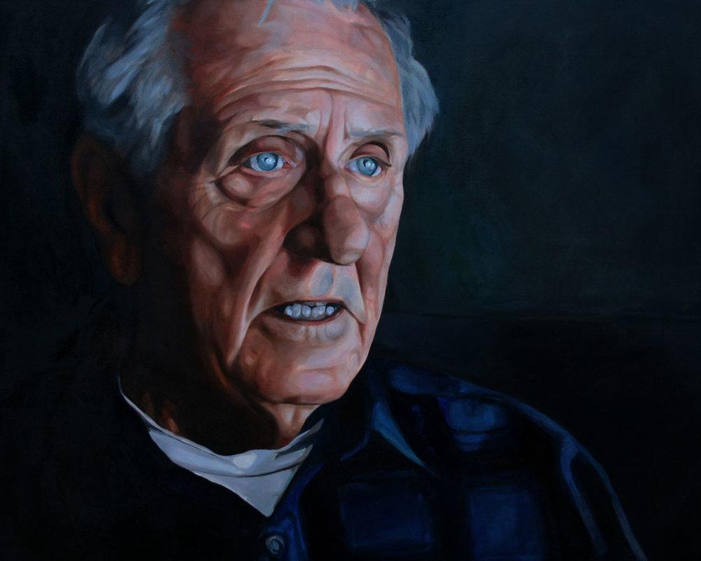 Geschichtenerzähler (storyteller), 5' x 4' Oil on Canvas, 2013