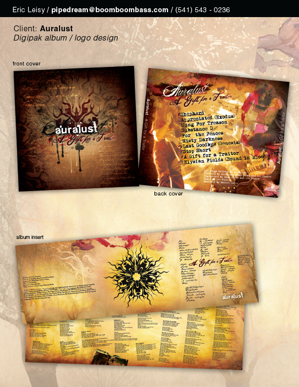Auralust CD Packaging