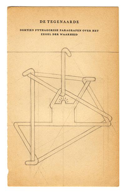 Daan Botlek  De tegenaarde  pencil on book page   Inquire