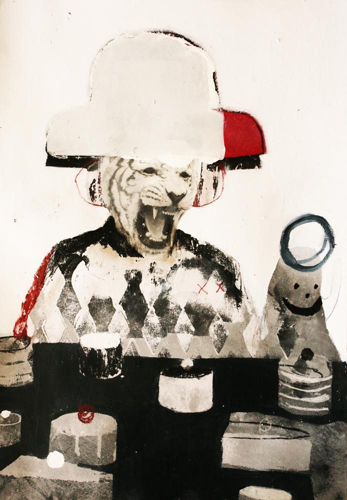 Jeroen Blok - mixed media on paperboard, 2014