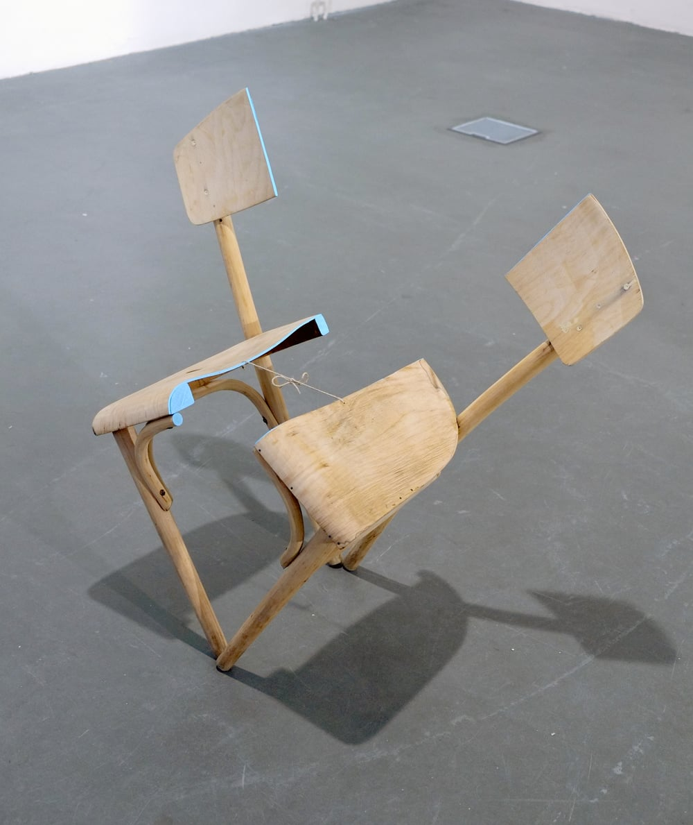 Jaybo Monk  The Lie of Symmetry  chair, mixed media approx. 60 cm    inquire