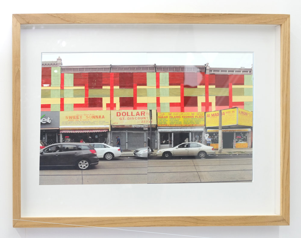 Haas&Hahn - ' Philly Painting Study #3'  (paint, tape, photographs)
