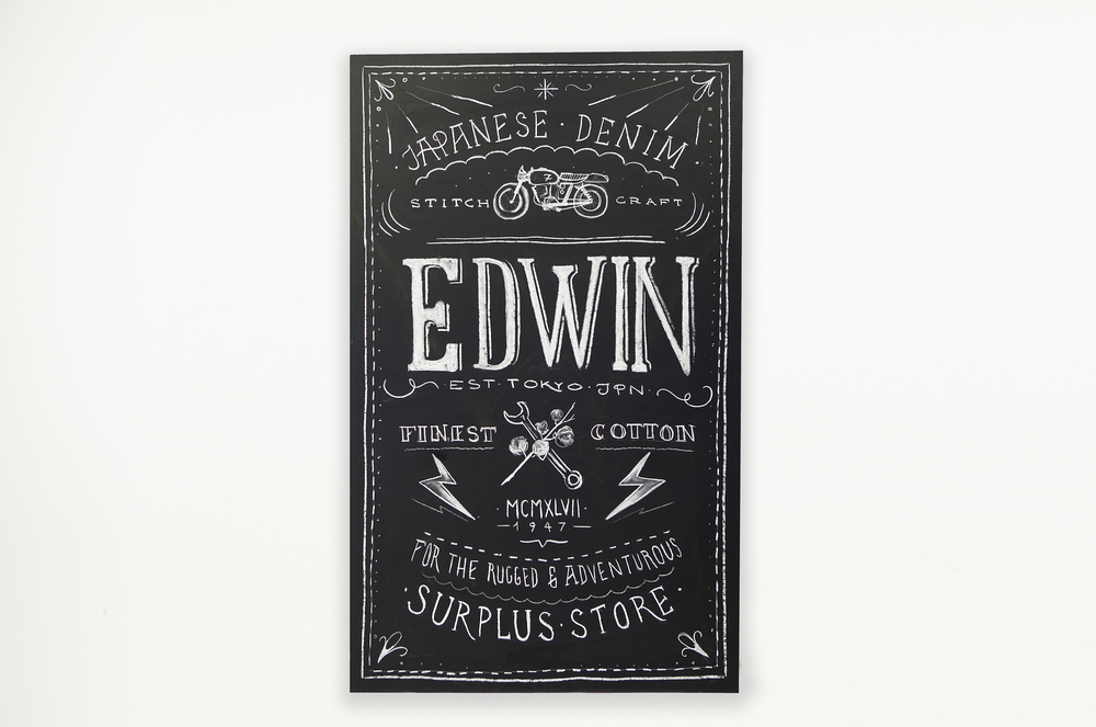 122 x 240 cm for Edwin Denim