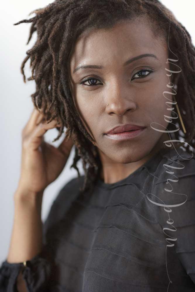 Modern Glamour Natural Light Portraits women boston photographer natural hair