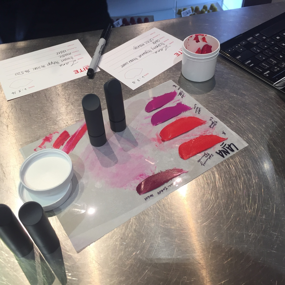 I chose the first and fourth shade the lip lab artist created for me. Recipes were saved for future purchases.