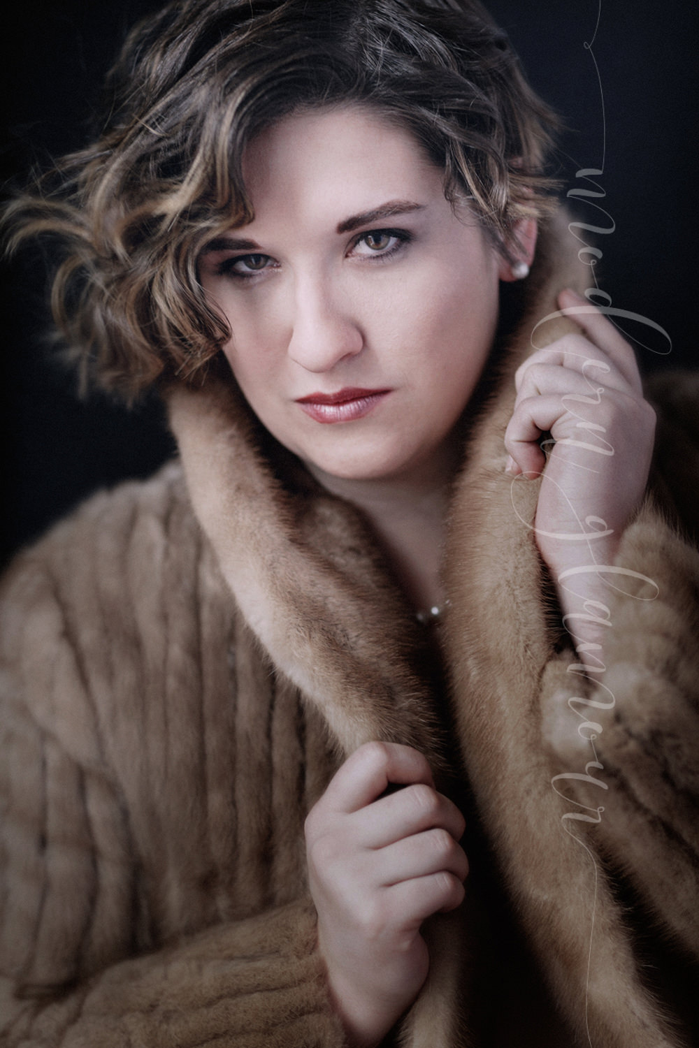 boudoir photos boston fur coat
