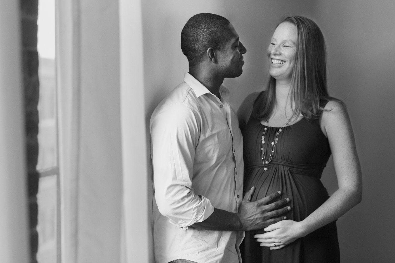 boston maternity photographer studio black and white