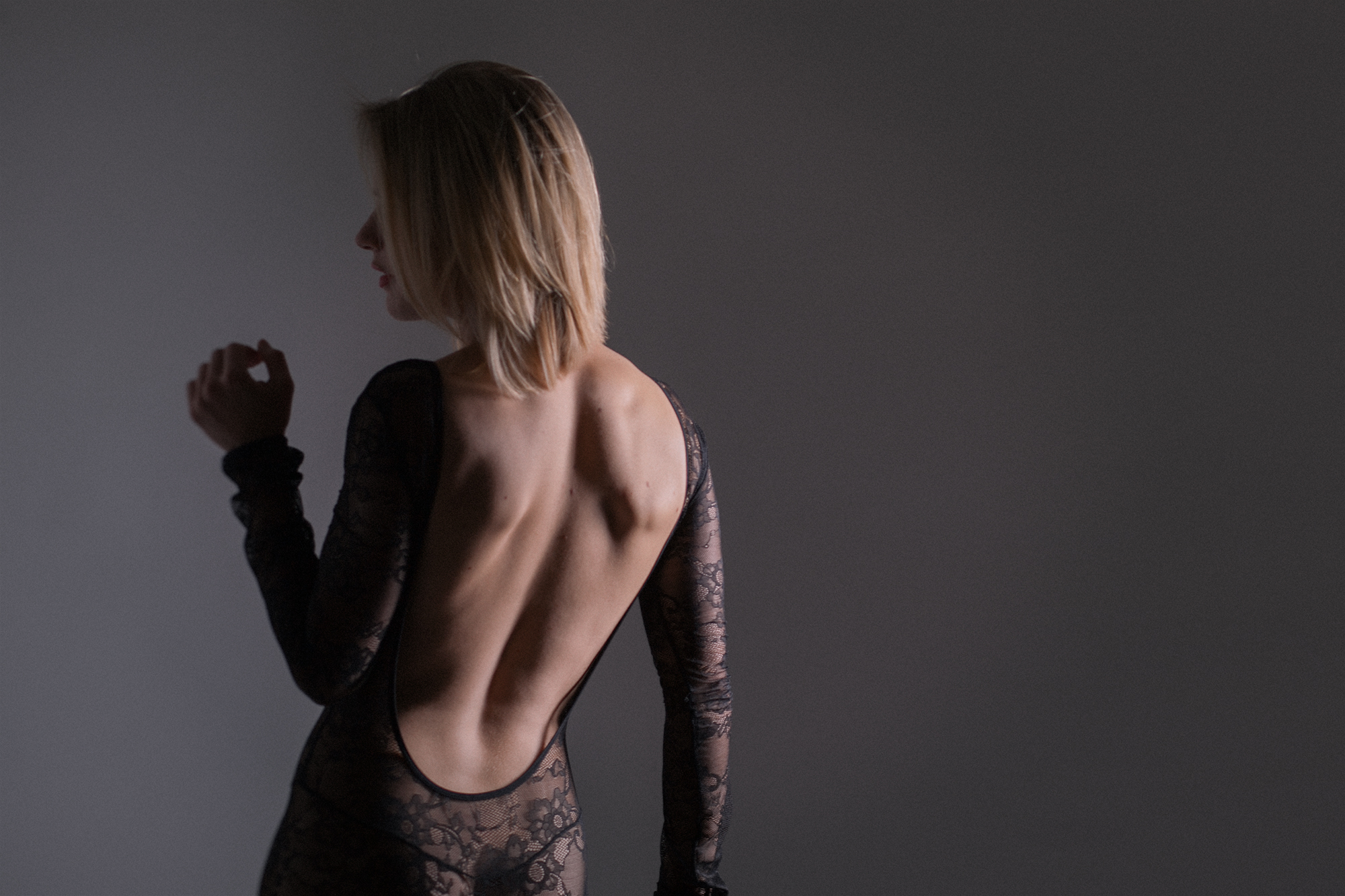 boudoir studio photos boston backless bodysuit