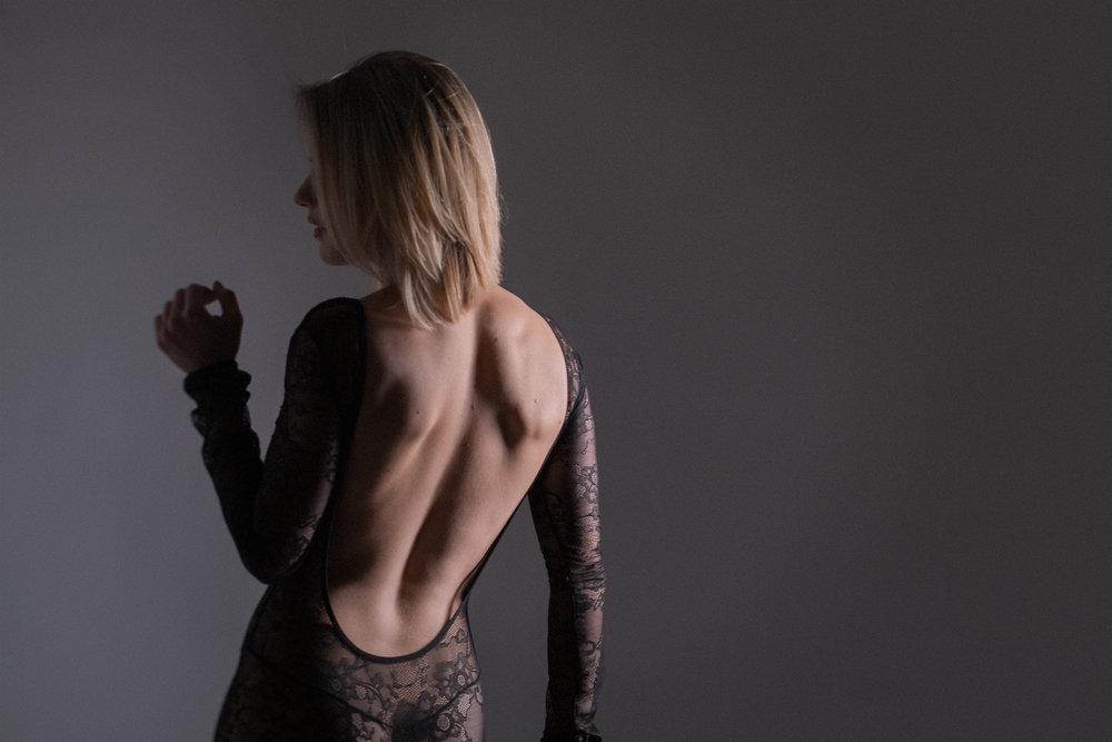 boudoir studio photos boston backless bodysuit