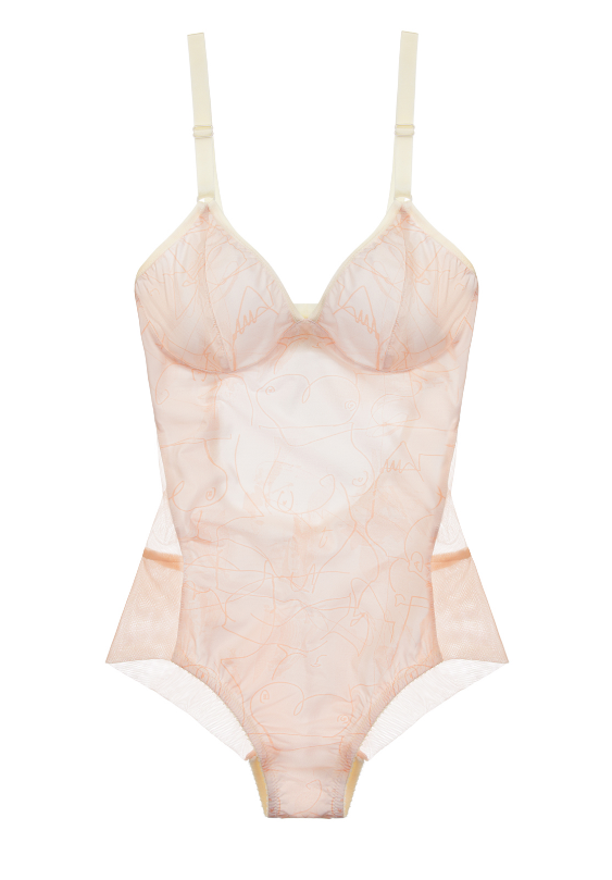 Fortnight Willow Seamless Bodysuit in Pale Pink