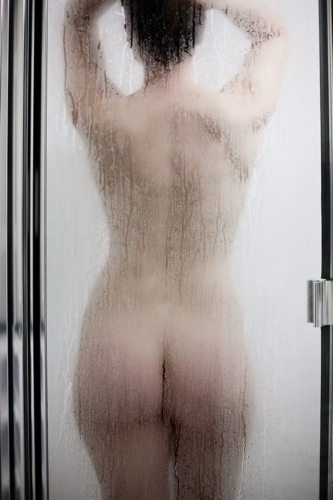 boudoir studio boston photographer shower