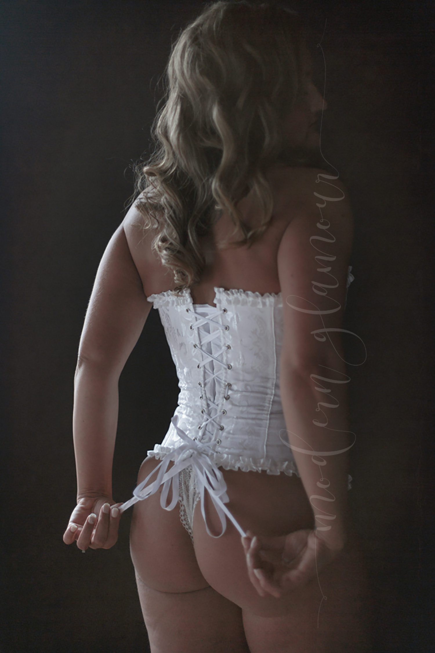 bridal boudoir boston ma brocade corset white laces