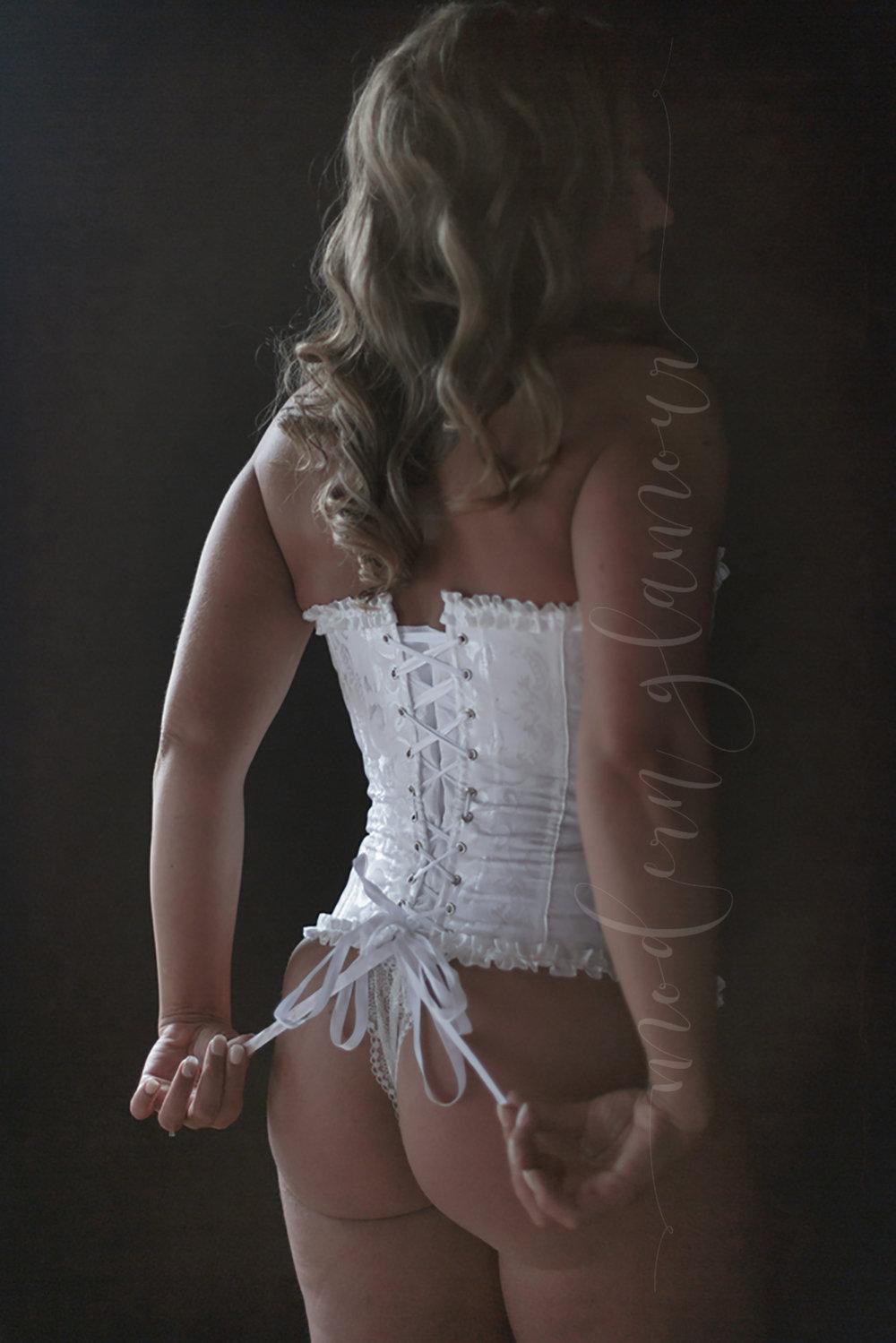 bridal boudoir boston ma brocade corset white laces