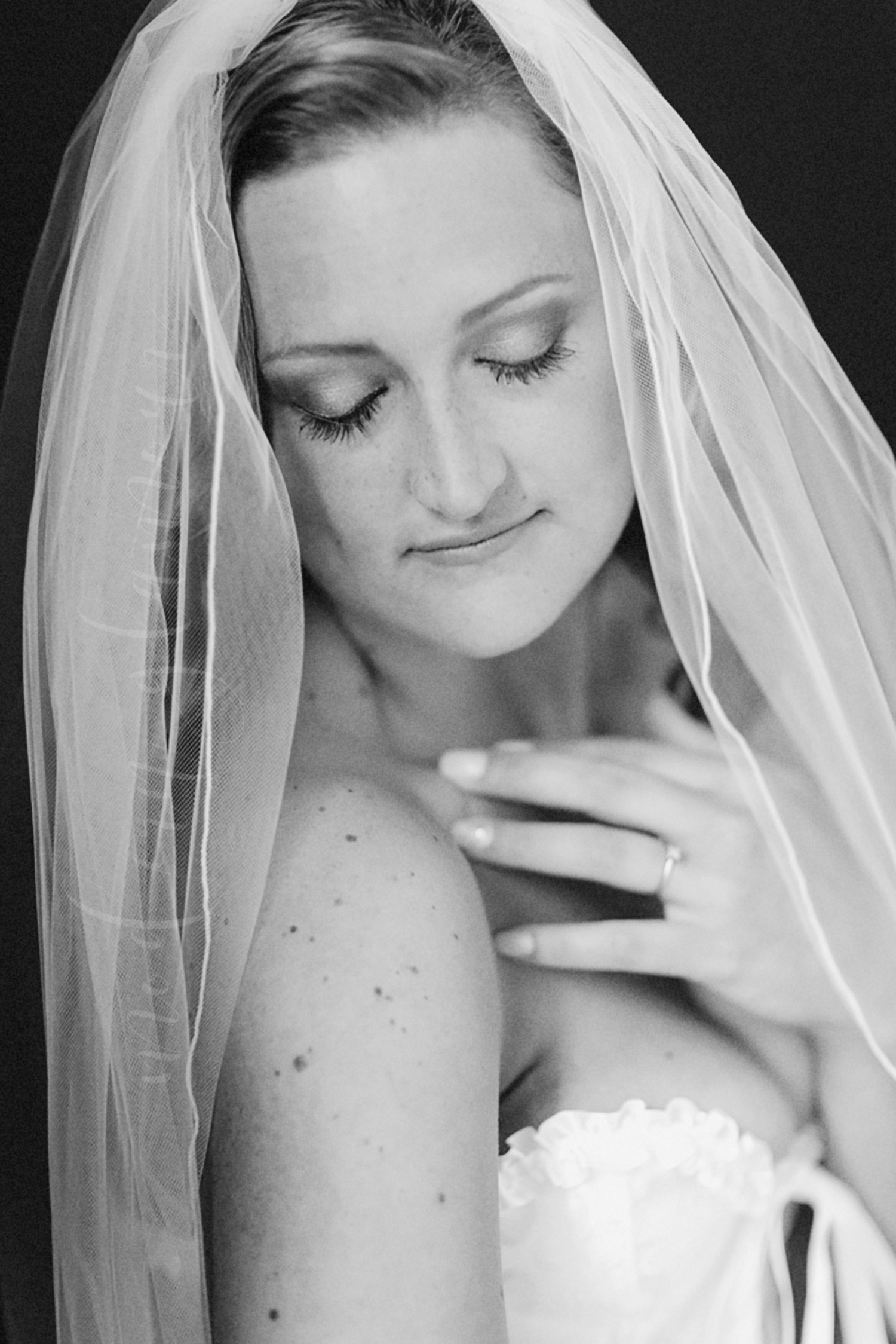 bridal portrait with veil boston ma photographer