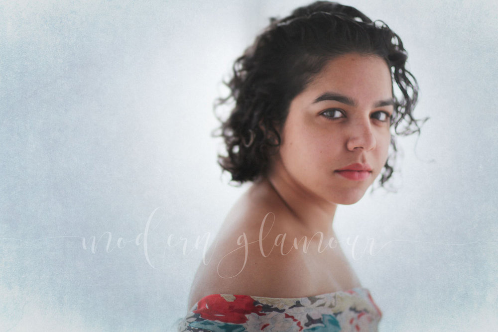 new england glamour portrait natural hair
