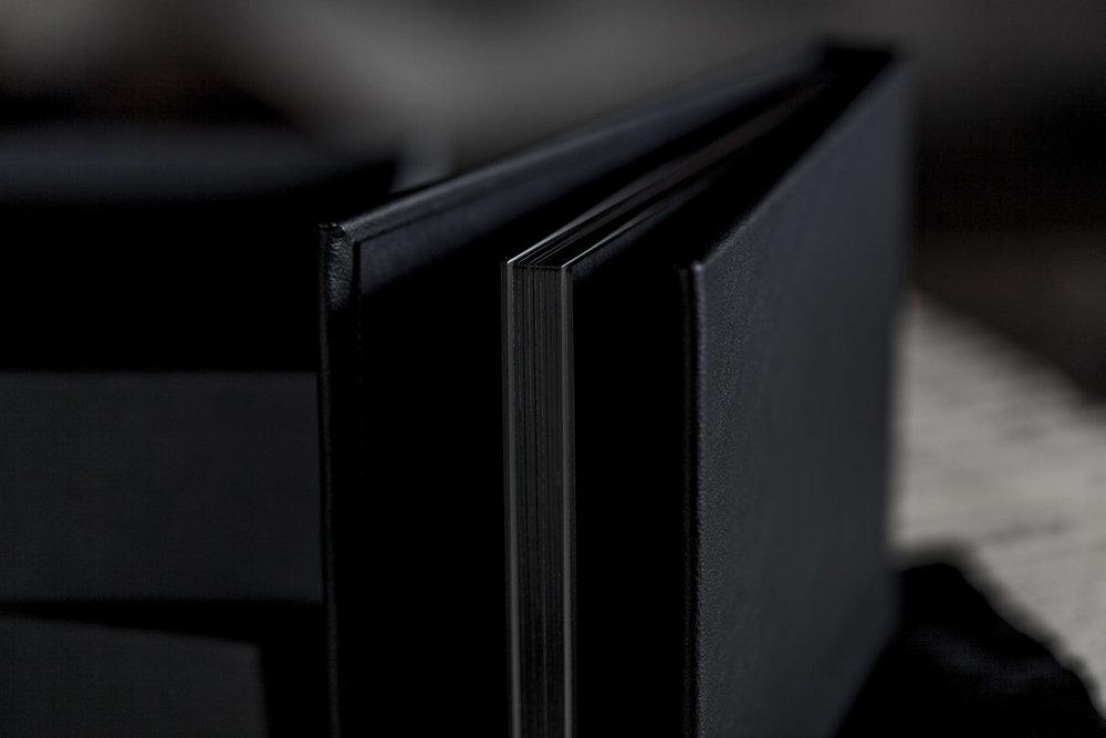 boston boudoir photos album black white leather