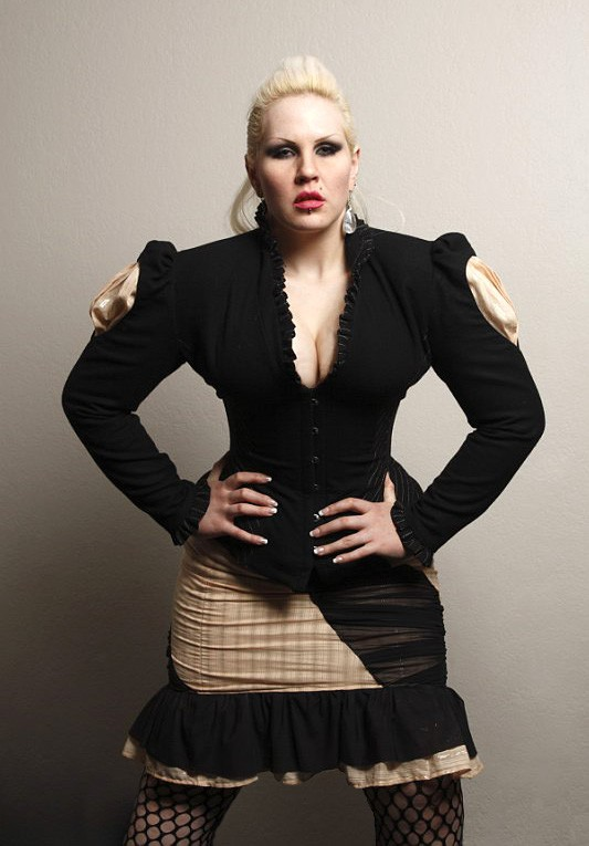 Custom corset jacket with slash through sleeves
