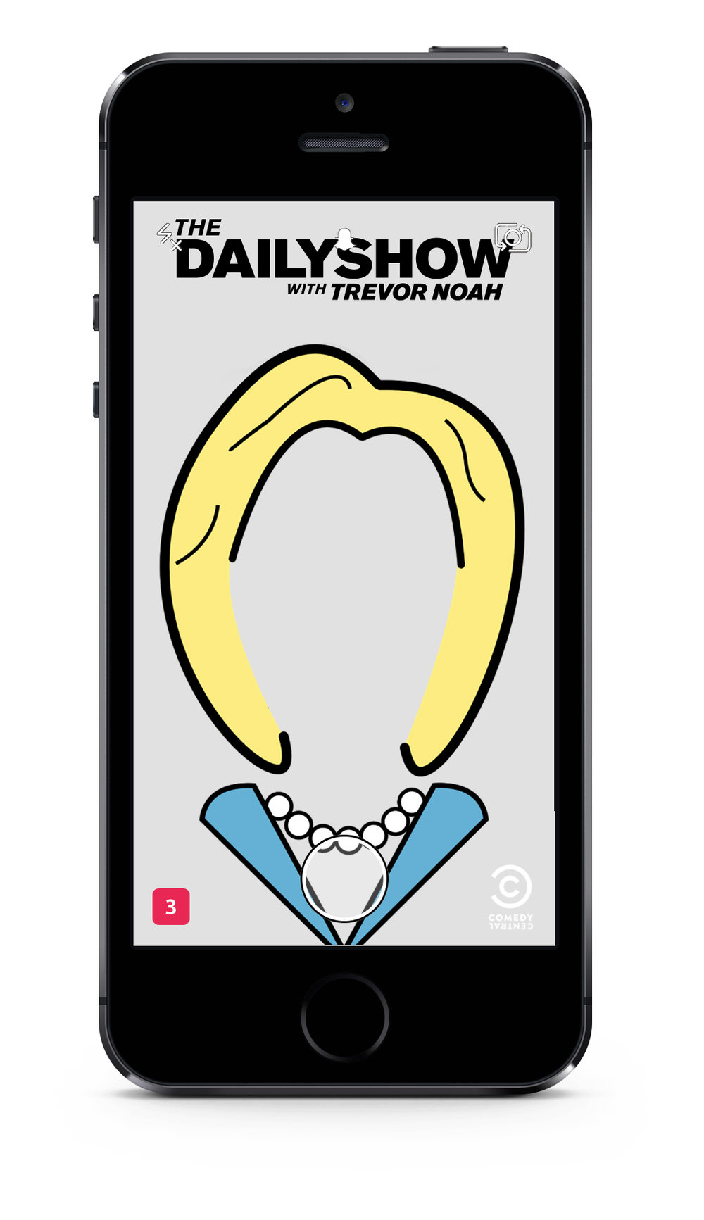 Snapchat Geofilters for The Daily Show