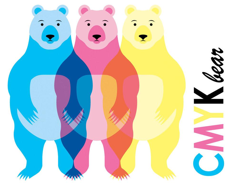 CMYK bear