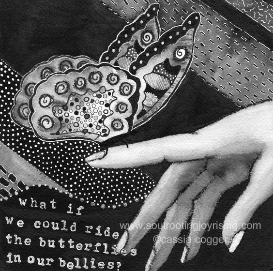 butterflies in our bellies