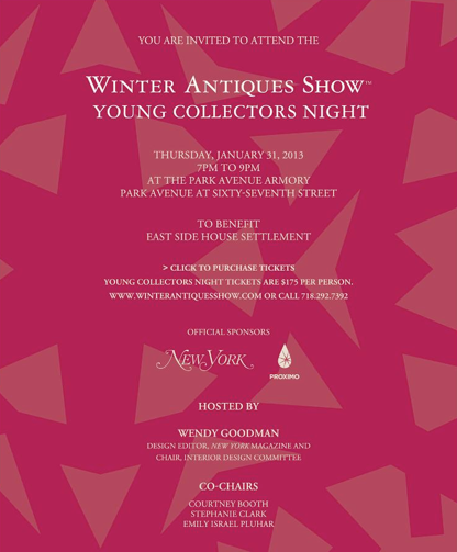 Winter Antiques Show Young Collectors Night