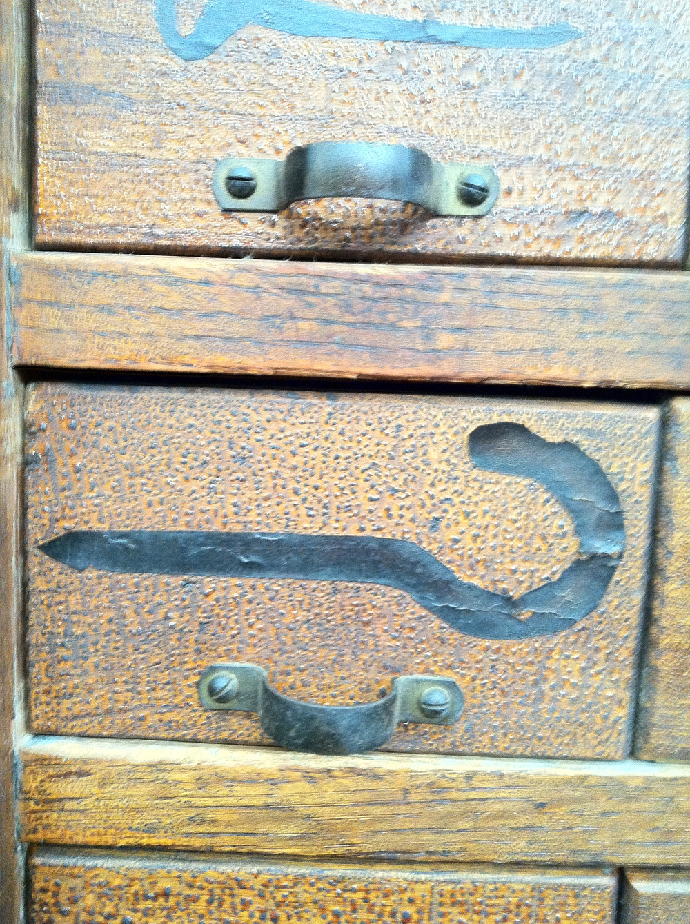 Great Detail on Vintage Chest