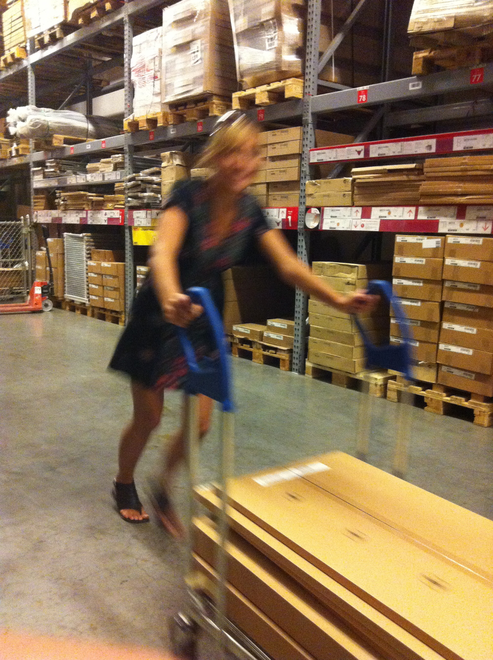 Cristina and I at Ikea shopping for the Upper East Side project
