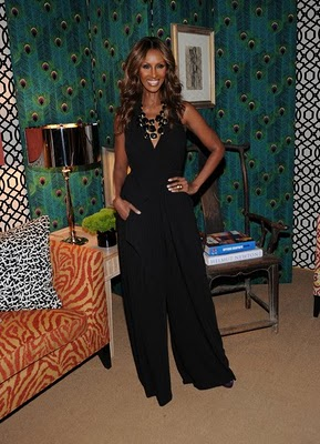 Iman Launches Fabric Line at Fashion Week