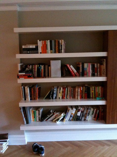 BEFORE/AFTER: Brooklyn Bookshelves