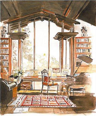 HERITAGE CRAFTS: Interior Watercolors by Mita Corsini