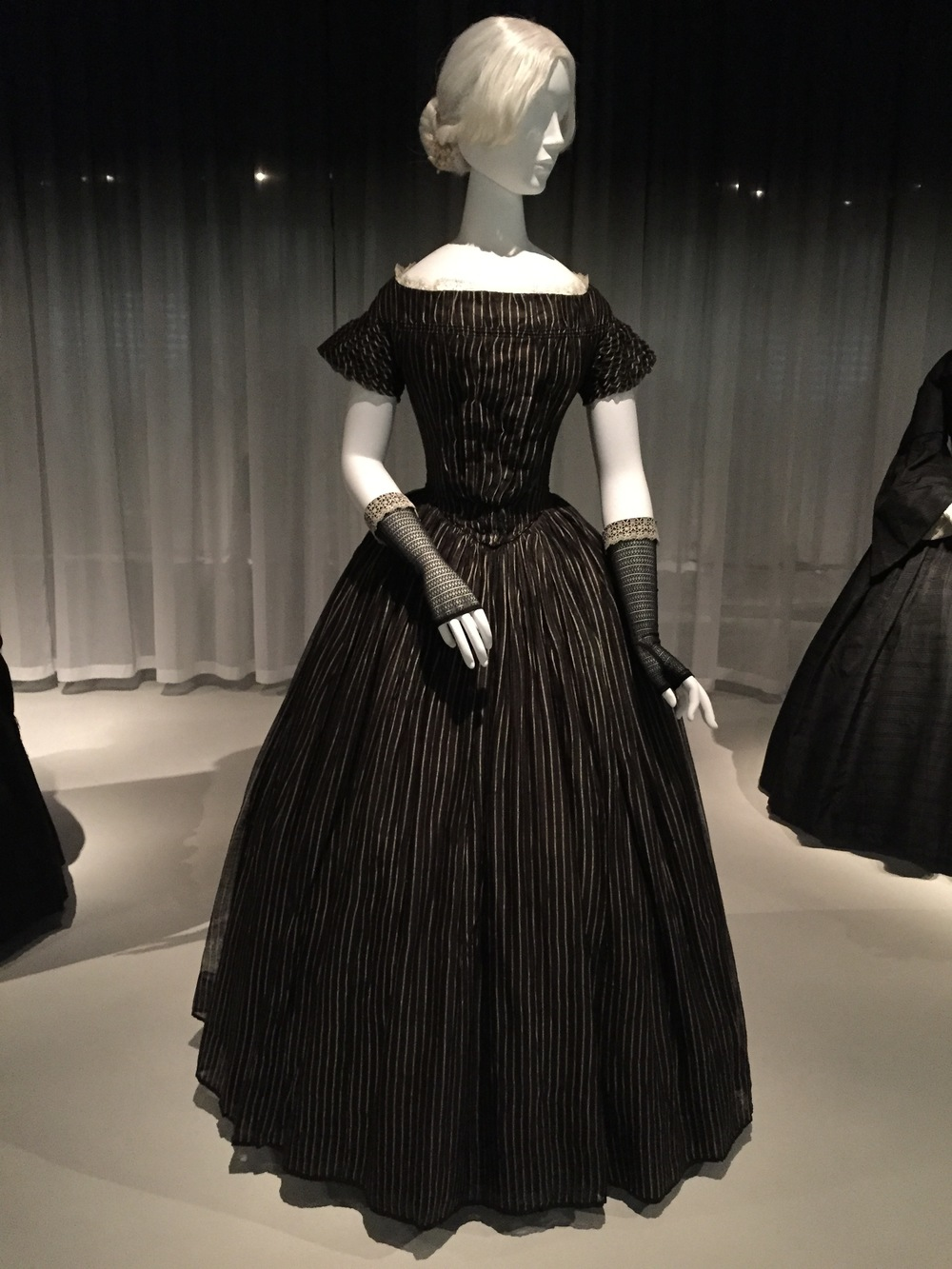 American mourning dress, ca. 1848