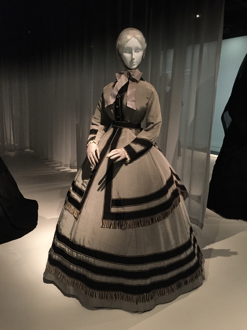 American wedding ensemble for a woman in mourning, ca. 1868