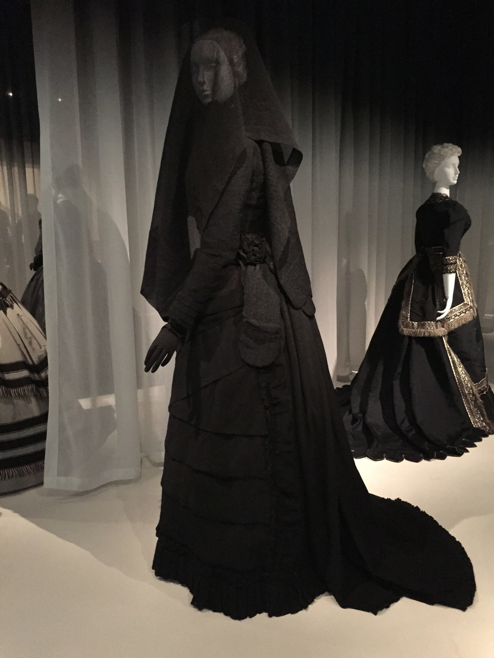 American mourning dress, ca. 1870-71