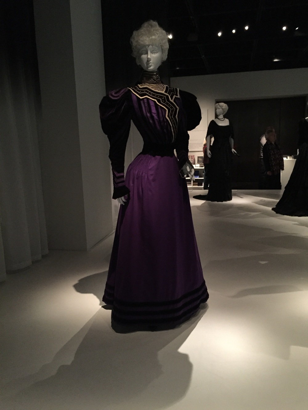 American mourning dress, ca. 1894-96