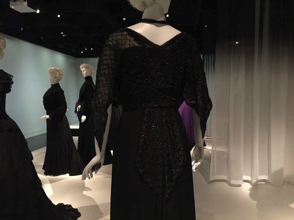 French mourning dress, ca/ 1910-12