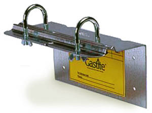 Manifold Bracket   provides mounting platform for manifolds, supplied with adhesive port labeling.