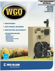 WGO Oil Boiler (Less Burner)