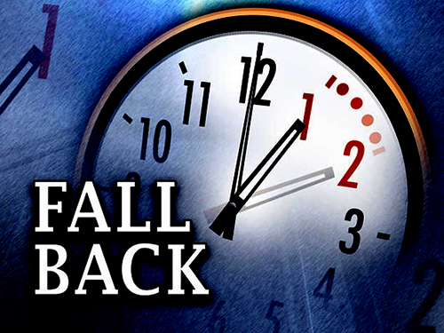 Don't Forget! - Turn back your clocks 1 hour on Saturday night, November 5th.